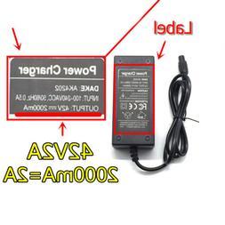 42V 2A 42.0V 2.0A AC Adaptor Power Supply Charger for Balanc