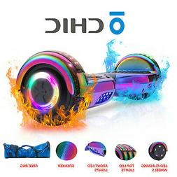 "6.5"" Hoverboard Self Balancing Scooter Rainbow Bluetooth Spe"