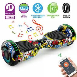 """6.5"""" Hoverboard Electric Self Balance Scooter LED Lights wit"""