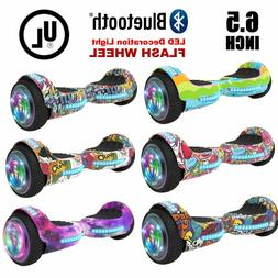 6.5'' Hoverboard with Bluetooth, Led Flash Sheel, Graphic De