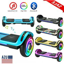 """6.5"""" Self Balancing Scooter Electric Hoverboard Bluetooth Sp"""