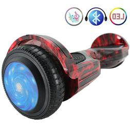 """Electric Balancing Scooter 6.5"""" with Bluetooth Speaker LED L"""