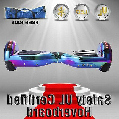 "6.5"" Scooter Rainbow Bluetooth UL 2272+bag"