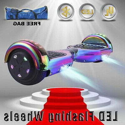 "6.5"" Balancing Scooter Rainbow Bluetooth UL"