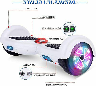 """6.5"""" Hoverboard UL Electric Self Scooter Sidelights no"""