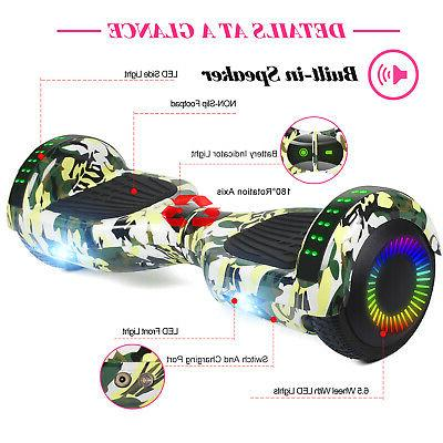 """6.5"""" Hoverboard Self Scooters Electric Hoover Board No"""