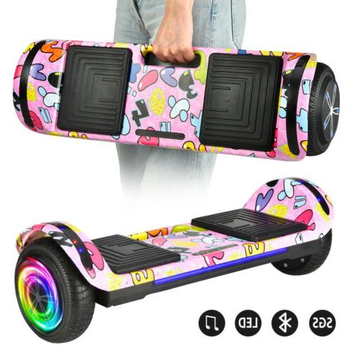 """6.5"""" Hoverboard LED Bluetooth Chrome Electric Self Balancing"""