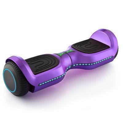 "6.5"" Self Hoverboard Bluetooth Hover SGS Purple"