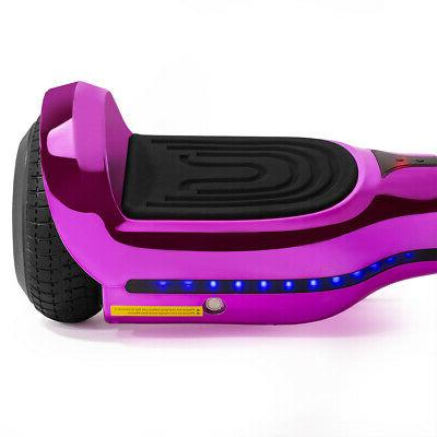 """6.5"""" inch Self Hoverboard Scooter Bluetooth Pink"""