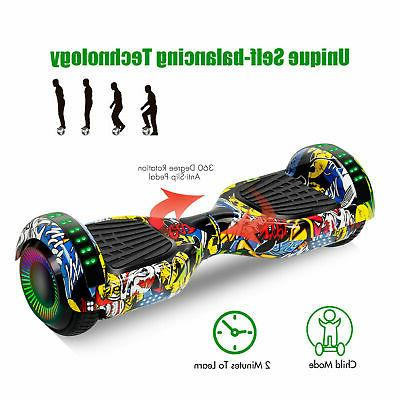"""6.5"""" Hoverboard Electric Balance Scooter LED Lights without Bag All-Terrain"""