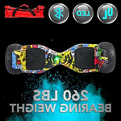 """8.5"""" Electric Self Scooter Hoverboard All Terrain Bluetooth"""