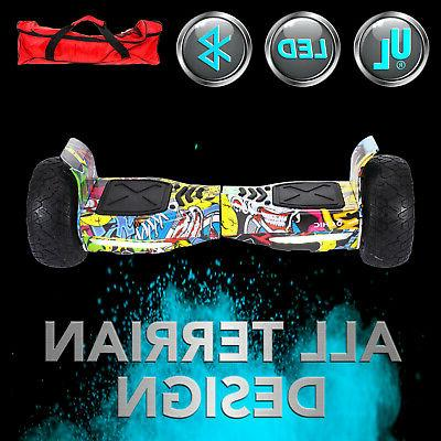 """8.5"""" Electric Balancing Scooter Hoverboard All Bluetooth UL2272"""