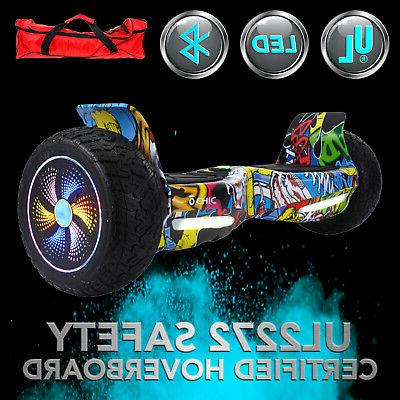 """8.5"""" Electric Self Balancing Scooter Hoverboard Bluetooth UL2272"""
