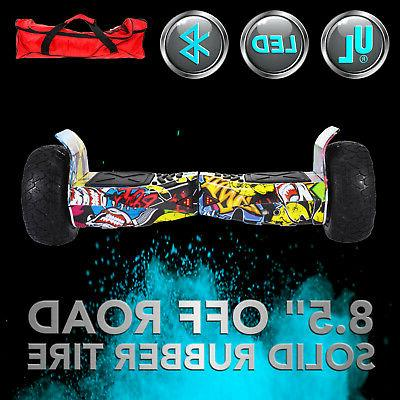 """8.5"""" Electric Scooter Hoverboard Bluetooth LED UL2272"""