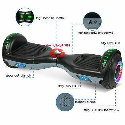 Bluetooth Electric Self Balancing Scooter Black+Gray UL2272