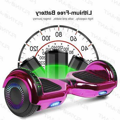 E Hoverboard Speaker Flash Smart Scooter Chorme purple
