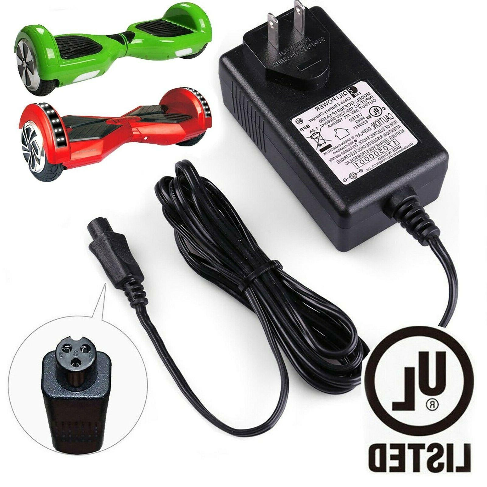universal hoverboard lithium battery charger for razor