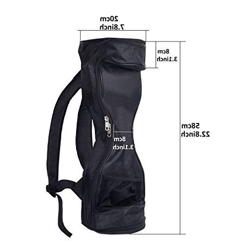 FBSPORT Hover Board Bag -Carrying Backpack Durable Fashion Handbag Two Self Smart Electric Adjustable Shoulder Straps Storage Mesh Pocket