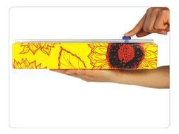 Chicwrap Sunflower Refillable Plastic Wrap Dispenser/Slide C