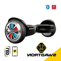 Swagtron T500 BLACK App-Enabled Bluetooth Hoverboad Self bal