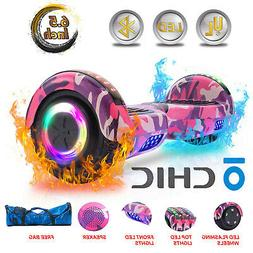 "UL 6.5"" Hoverboard Bluetooth LED Self Balancing Electric Sco"
